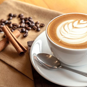 Café mitt i köpcenter AA-läge